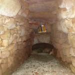 Tunnel d'accès à la chambre de chauffe.