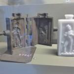Visite du Musée des arts et métiers : moules verriers.