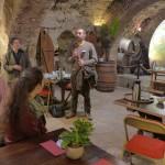 Echanges au Musée du Vin