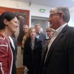 Claudine Munier et Bruno Cousein, maire de Berck-sur-Maire et président de la communauté de communes.